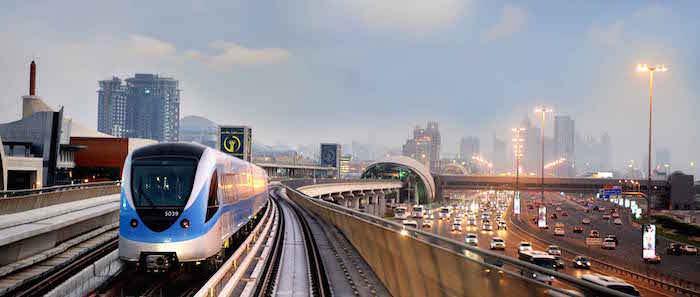 La metro di Dubai