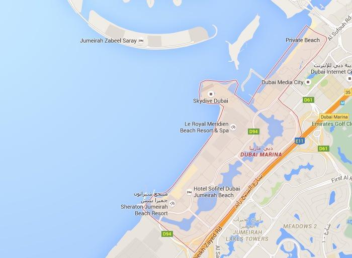 Dormire nella zona di Dubai Marina